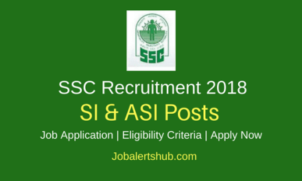 Staff Selection Commission 2018 Sub-Inspector & Assistant Sub-Inspector Posts – 1330 Vacancies | Graduation | Apply Now