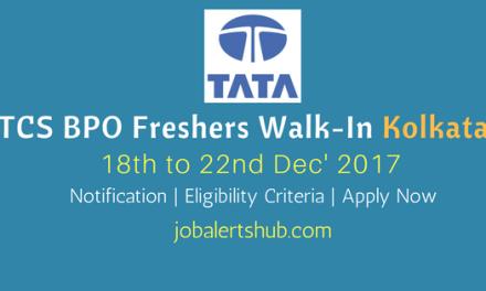 TCS BPO Walkin Kolkata 2018 | Accounts Executive | B.com | Apply Now