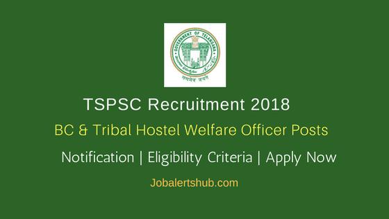TSPSC BC & Tribal Hostel Welfare Officer Jobs – 310 Vacancies | Diploma, Graduation | Apply Now