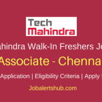 Tech Mahindra Walk-In Freshers Technical Support 2018 Vacancies | Chennai | Graduation/ Diploma/ 12th | Walk-In: 22nd to 24th March'18