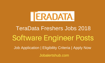 TeraData Hyderabad 2018 Software Engineer Freshers Jobs | Master Degree | Apply Now