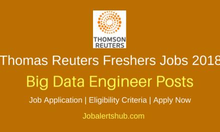 Thomas Reuters Bangalore 2018 Big Data Engineer Infrastructure Jobs   Graduation   Apply Now
