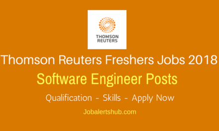 Thomas Reuters Software Engineer Jobs 2018 | Degree/PG | Bangalore | Apply Now