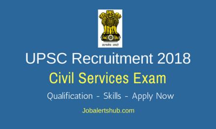 UPSC Civil Services Jobs 2018 – 782 Jobs   Any Degree   Apply Now