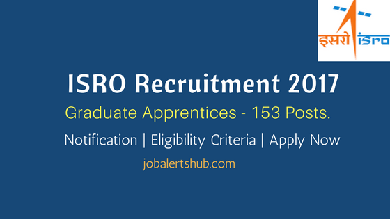 VSSC Recruitment 2017 | Graduate Apprentices – 153 Vacancies | Degree | Apply Now