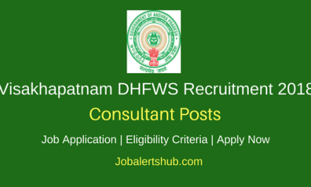 District Health & Family Welfare Samiti (DHFWS) Visakhapatnam 2018 Lab Technician, STS, TBHV & Other Posts – 08 Vacancies | 10+2 with DMLT, Any Degree, PG | Apply Now