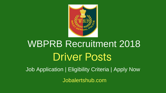 WBPRB Driver 2018 Jobs – 40 Vacancies | 8th Pass | Apply Now