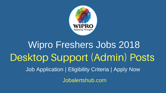 Wipro Desktop Support 2018 Vacancies | UG/Graduation/PG | Bangalore | Apply NOW