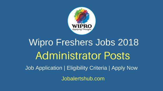 Wipro 2018 Hyderabad Administrator – Desktop Support Fresher Jobs | Graduation, PG | Apply Now