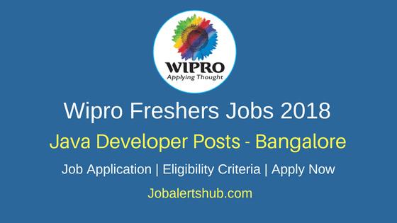 Wipro Java Developer Freshers 2018 Vacancies | Any Graduate | Bangalore | Apply Now