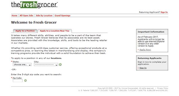 Fresh Grocer Job App