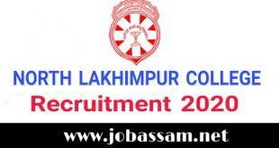 North Lakhimpur College Recruitment 2020