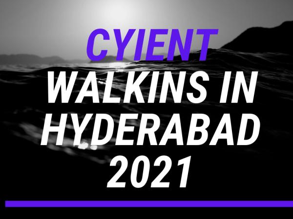Cyient job openings in Hyderabad