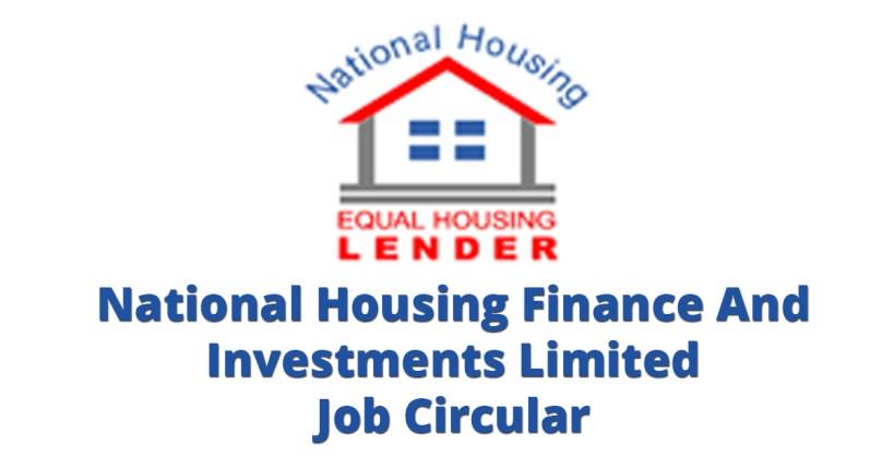 National Housing Finance And Investments Job Circular 2017