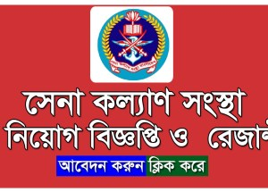 Sena Kalyan Sangstha Job Circular on August 2017