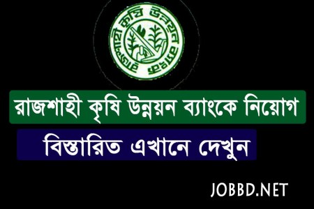 Rajshahi Krishi Unnayan Bank Job Circular 2021 | erecruitment.bb.org.bd
