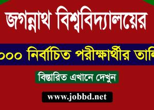 Jagannath University Admission Circular 2018-19   jnu.ac.bd