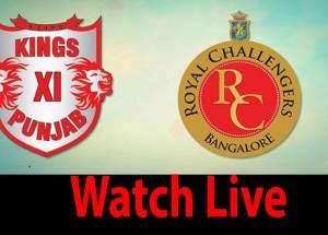 Royal Challengers Bangalore vs Kings XI Punjab Live Streaming-Live Cricket Score