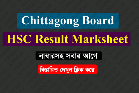 Chittagong Board HSC Result 2019 Marksheet With Number
