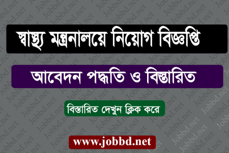 Ministry of Health Job Circular 2019 – mohfw.gov.bd