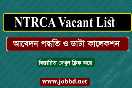 NTRCA Job Recruitment vacant list 2020 – ngi.teletalk.com.bd