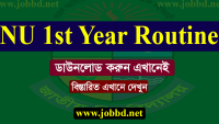NU Honours 1st Year Routine 2019 Download – www.nu.edu.bd