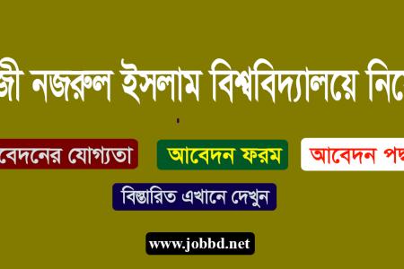 Jatiya Kabi Kazi Nazrul Islam University Job Circular 2019- jkkniu.edu.bd