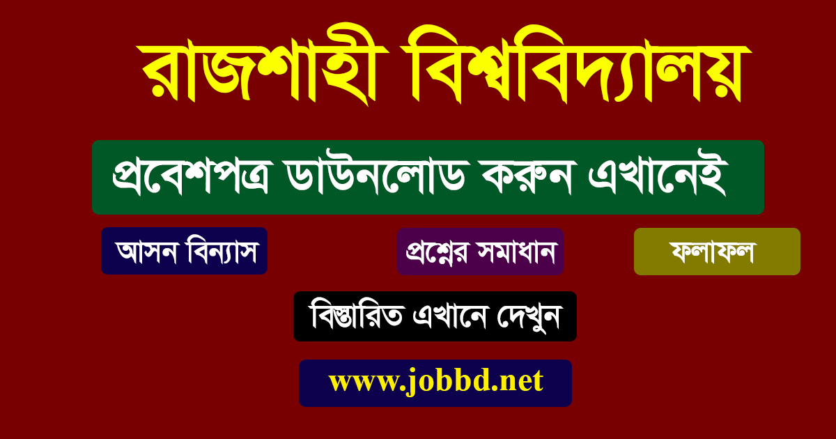Rajshahi University Admit Card Download 2020-21 | www.ru.ac.bd