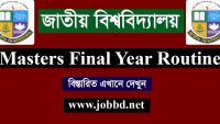 NU Masters Final Year Exam Routine 2018 – www.nu.edu.bd