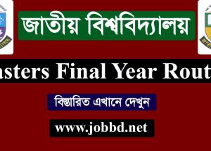 NU Masters Final Year Exam Routine 2018 – www.nu.edu.bd