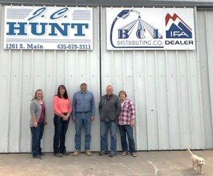 Left to right: Shaylee Adair, Tiffany Giddings, Eric Grover, Carl Hunt, DeeAnn Hunt