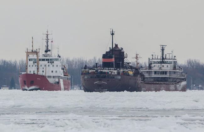 Stuck freighter
