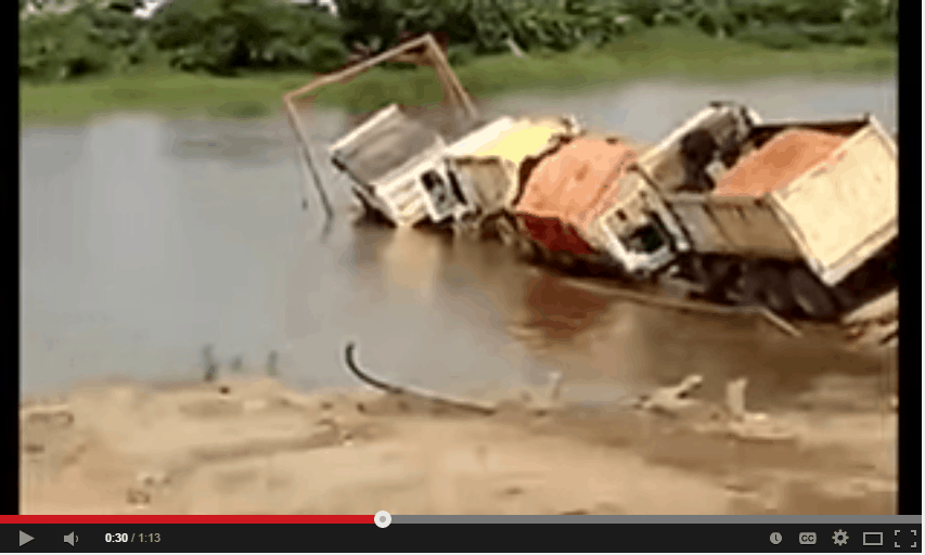 How not to load a barge
