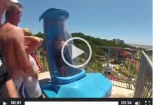 One bad ass water slide