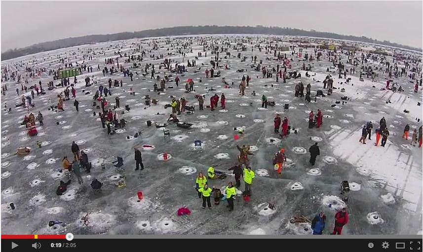 ice fishing Minnesota style