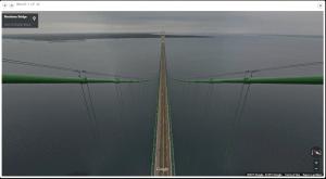 Google Trekker images of Michigan landmarks