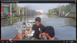 small boat giant motor