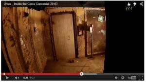 Some new video has surfaced online filmed from inside the Costa Concordia.