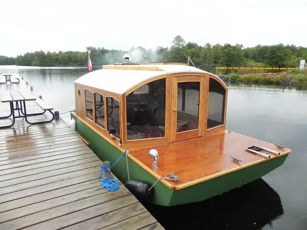 Canadian Cabinetmaker Builds DIY Mico-Houseboat! - JobbieCrew.com