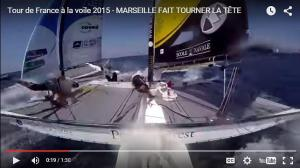 two catamarans crash in a race