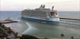 Royal Caribbean's Oasis of the Seas departs