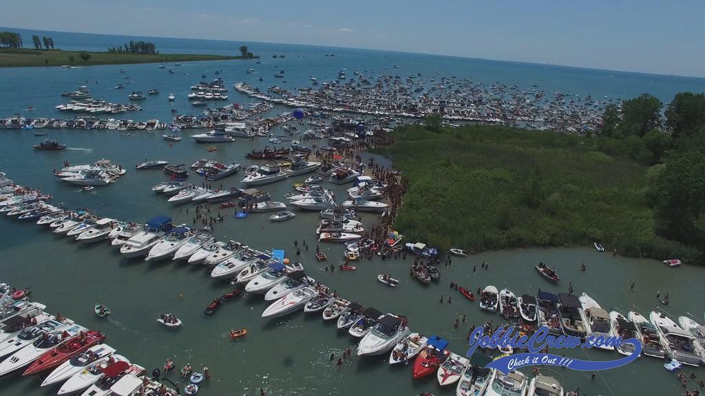 Jobbie Nooner 2016 Aerial Gull Island Lake St Clair