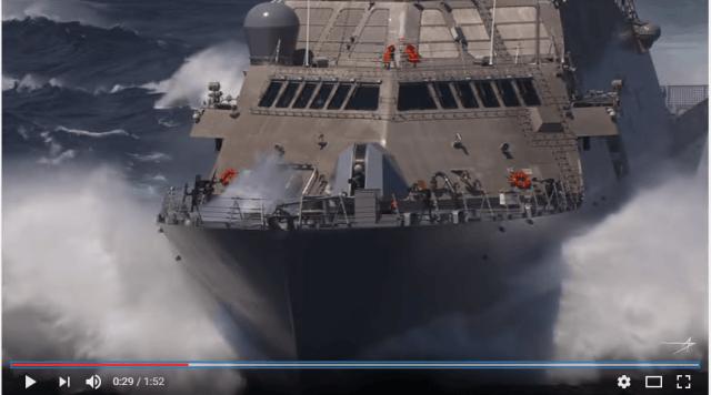 USS Detroit passes Sea Trials