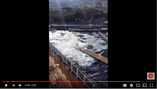 Cruise ship wakes takes out small marina