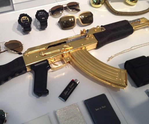 Over the top toys: Buy: Gold Plated Versace AK-47 ($9,0000