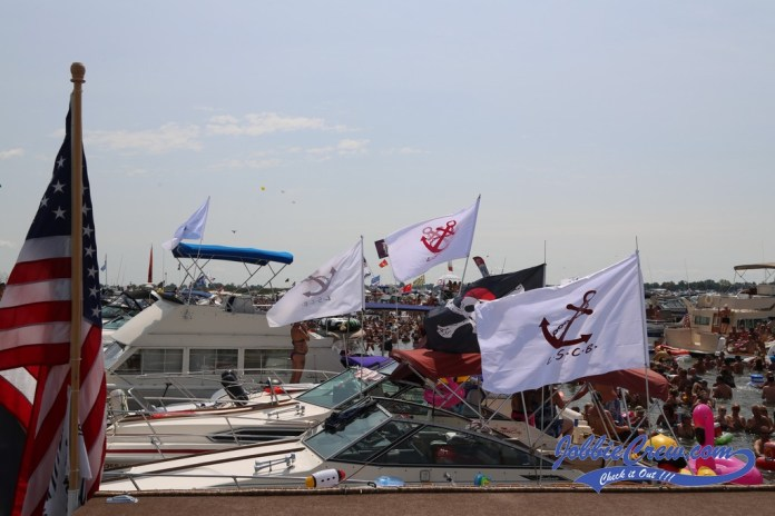 The Lake St Clair Group flags flying strong!