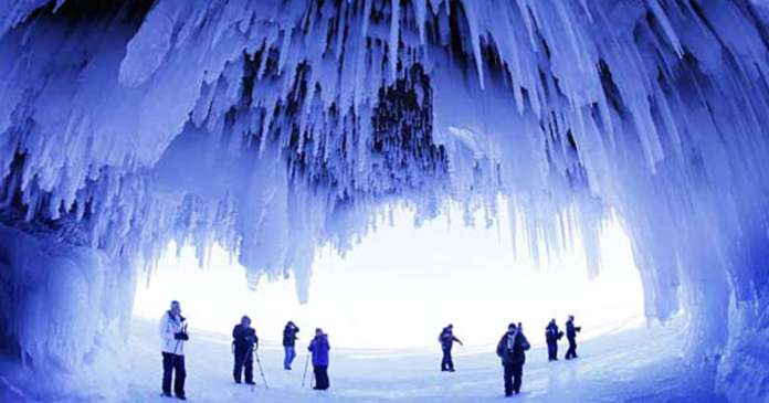Ice Cave Lake Ontario