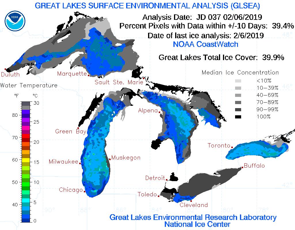Ice coverage 2-7-19