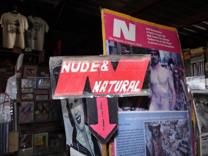 Nudist book store