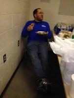 Josh enjoying the free lunch